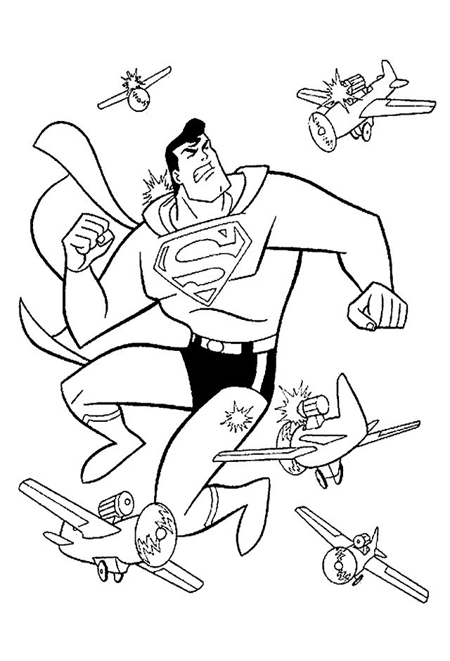 Superman Fighting With Planes
