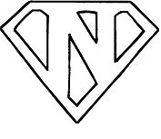 Superman Logo Letter N Coloring Page
