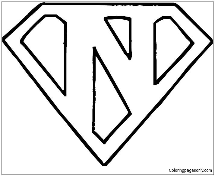 Superman Logo Letter N Coloring Pages Alphabet Coloring Pages Free Printable Coloring Pages Online