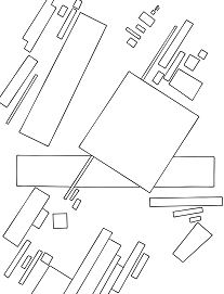 Suprematist Composition By Kazimir Malevich Coloring Page