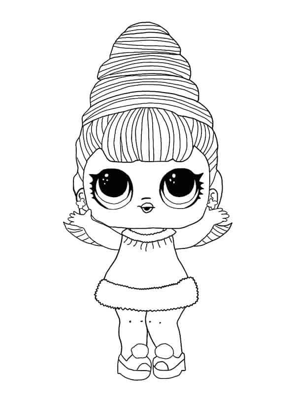 Lol Suprise Doll Supreme Queen Coloring Page