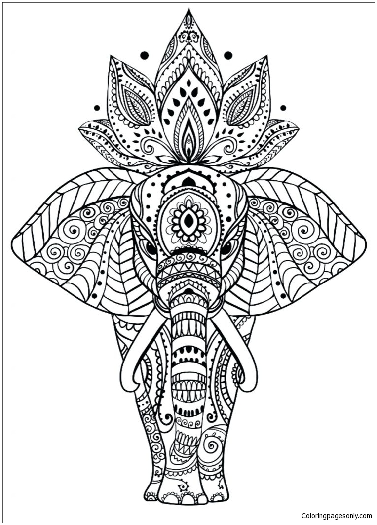 - Surging Animal Mandala Coloring Page - Free Coloring Pages Online