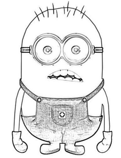 Surprising Miniondespicable Me Sadd7 Coloring Page