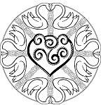 Swan Animal Mandala