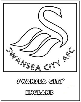 Swansea City A.F.C. Coloring Page