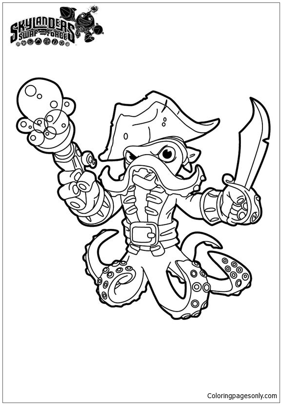 Swap Force Coloring Page