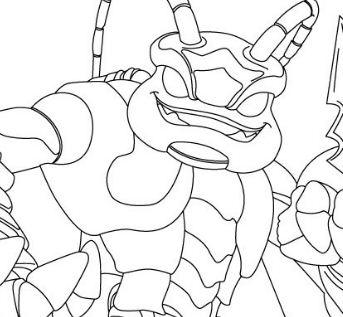 Swarm Skylanders Coloring Page