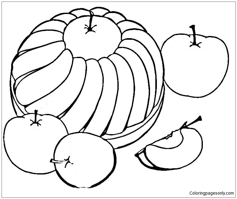 sweet apple pie coloring page free coloring pages online