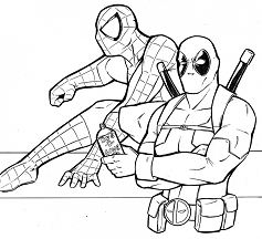 Sweet Looking Deadpool Coloring Page