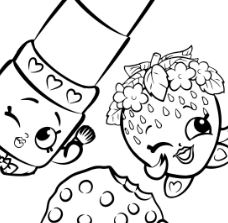 Sweet Shopkins Characters Coloring Page