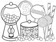 Sweet Shoppe Candy Coloring Page