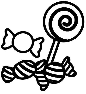 Sweets And Candies Coloring Page