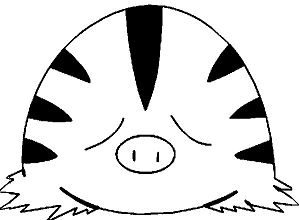Swinub Pokemon Coloring Page