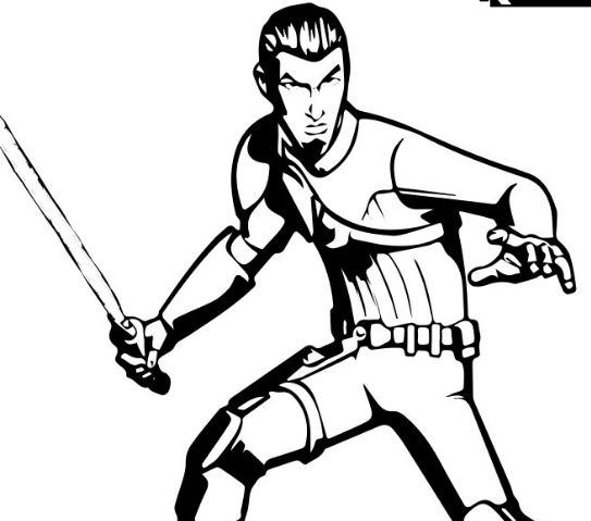 SWR-Kanan Coloring Page