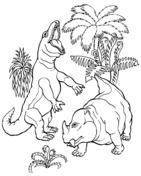 T. Rex vs. Dicynodont Dinosaur