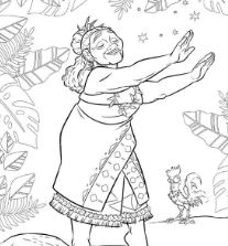 Tala From Moana Disney 2 Coloring Page