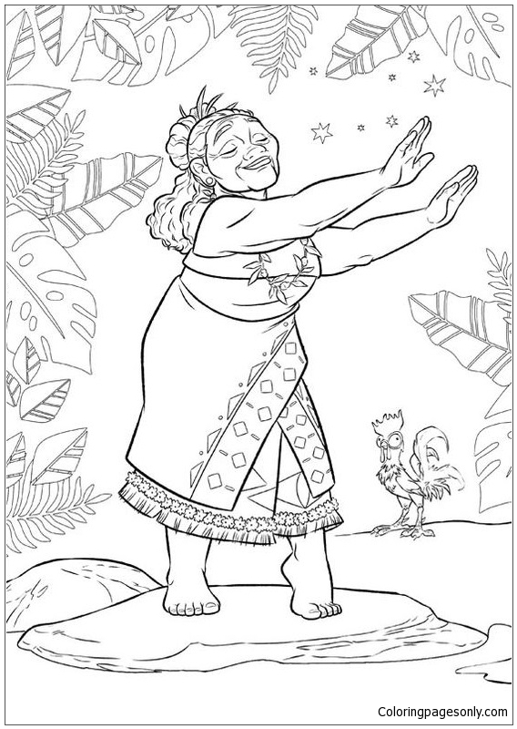 Tala From Moana Disney 2 Coloring Page Free Coloring
