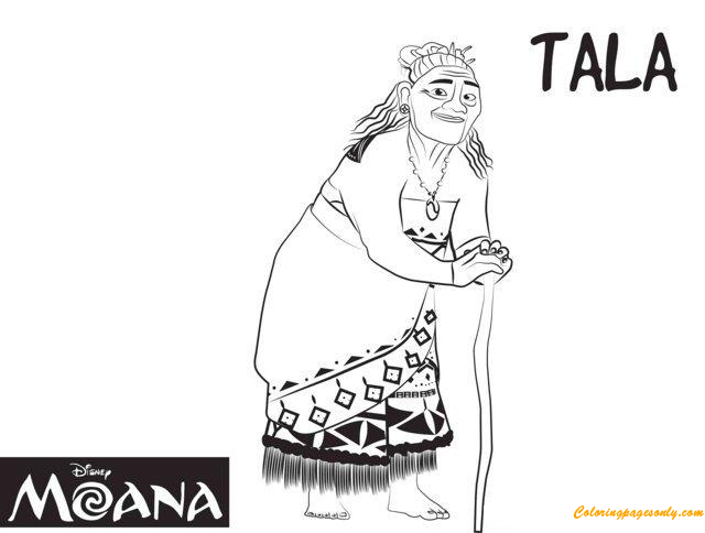 Tala From Moana Disney Coloring Pages