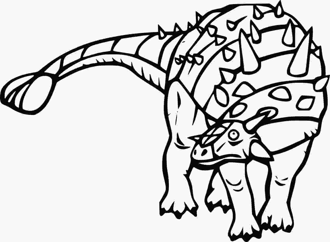 Talarurus had heavy armour and a club on its tail Coloring Page