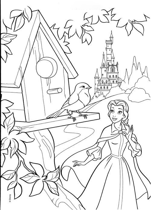 Talking to the bird Coloring Page
