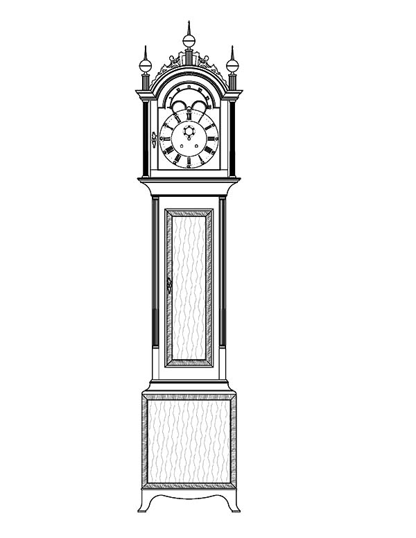Tall Case Grandfather Clock
