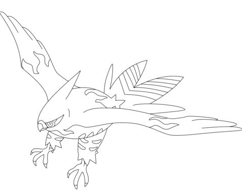 Pokemon - Latias and Latios Coloring Page 01 | Coloring Page Central | 379x477
