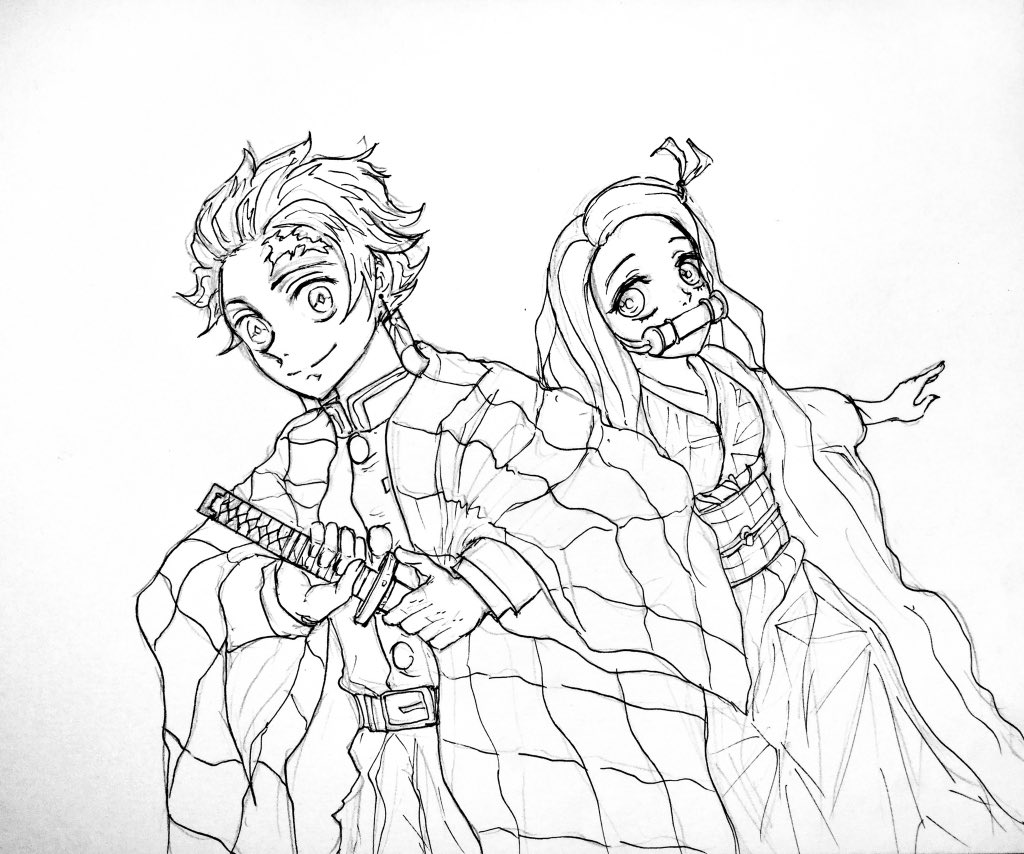 Tanjiro and Nezuko