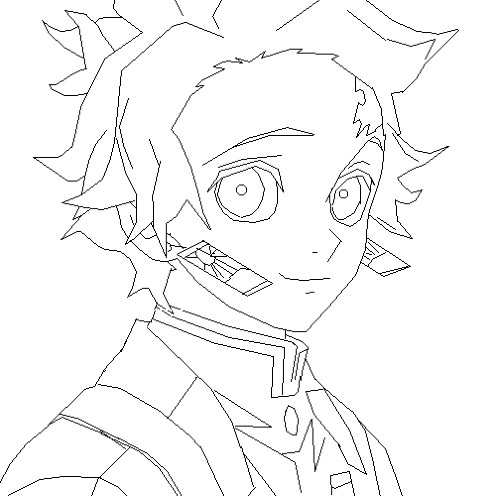 Tanjiro Smiling Coloring Page