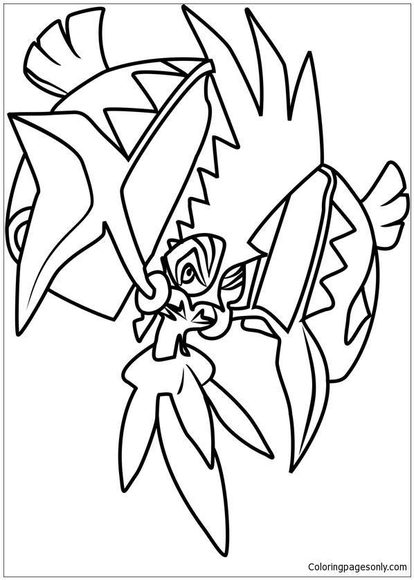 Tapu Koko Pokemon Coloring Pages