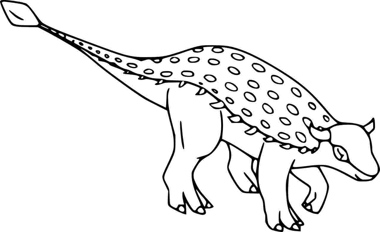 Tarchia is one of the largest Ankylosaurid Dinosaur Coloring Page