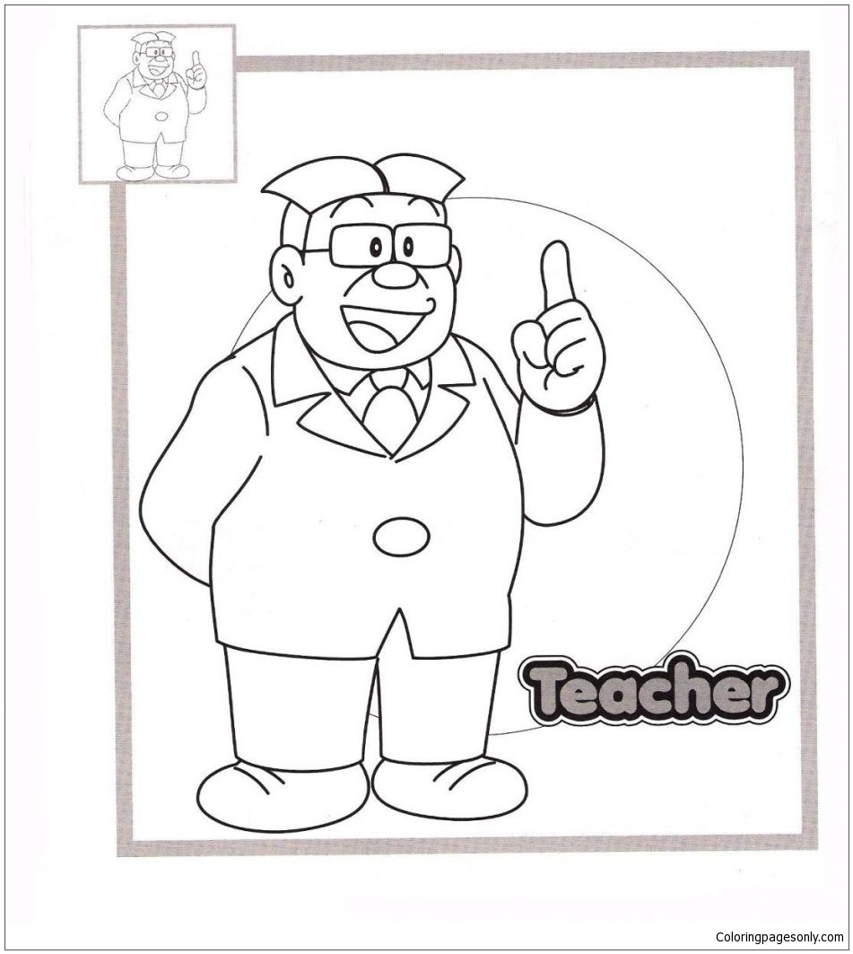 Nobita Coloring Page - Free Coloring Pages Online | 1063x951