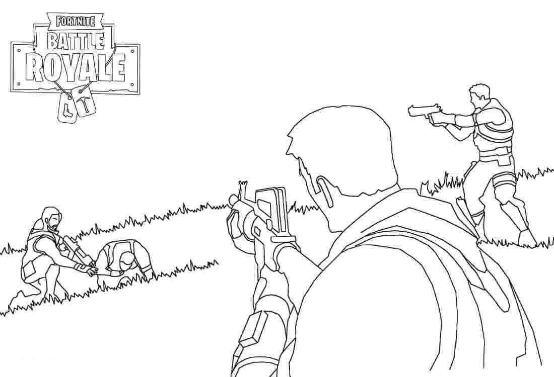 Team arrested an enemy from Fortnite Coloring Page