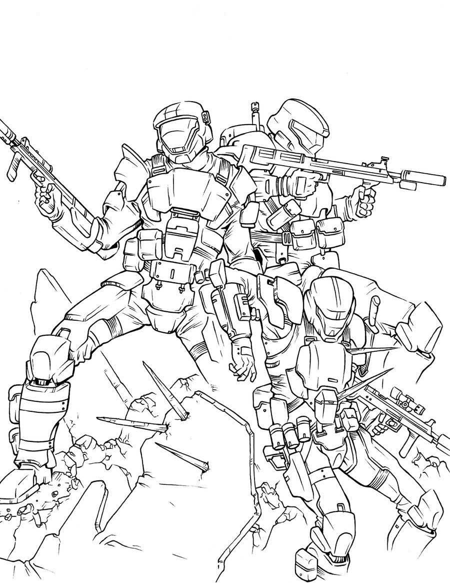 halo 3 odst coloring pages - photo#9
