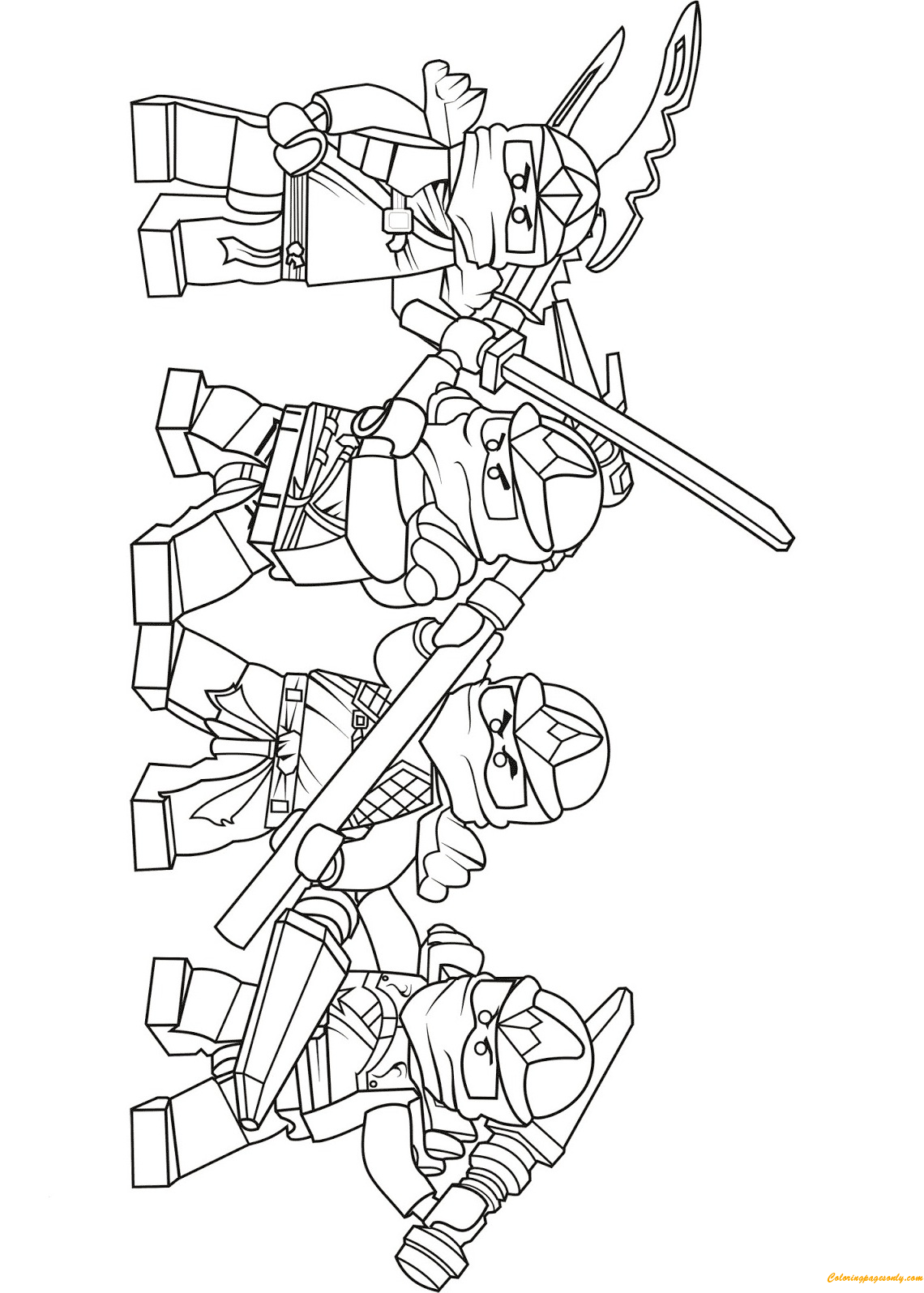 lego ninjago coloring pages cole zx - team of lego ninjago zx coloring page free coloring