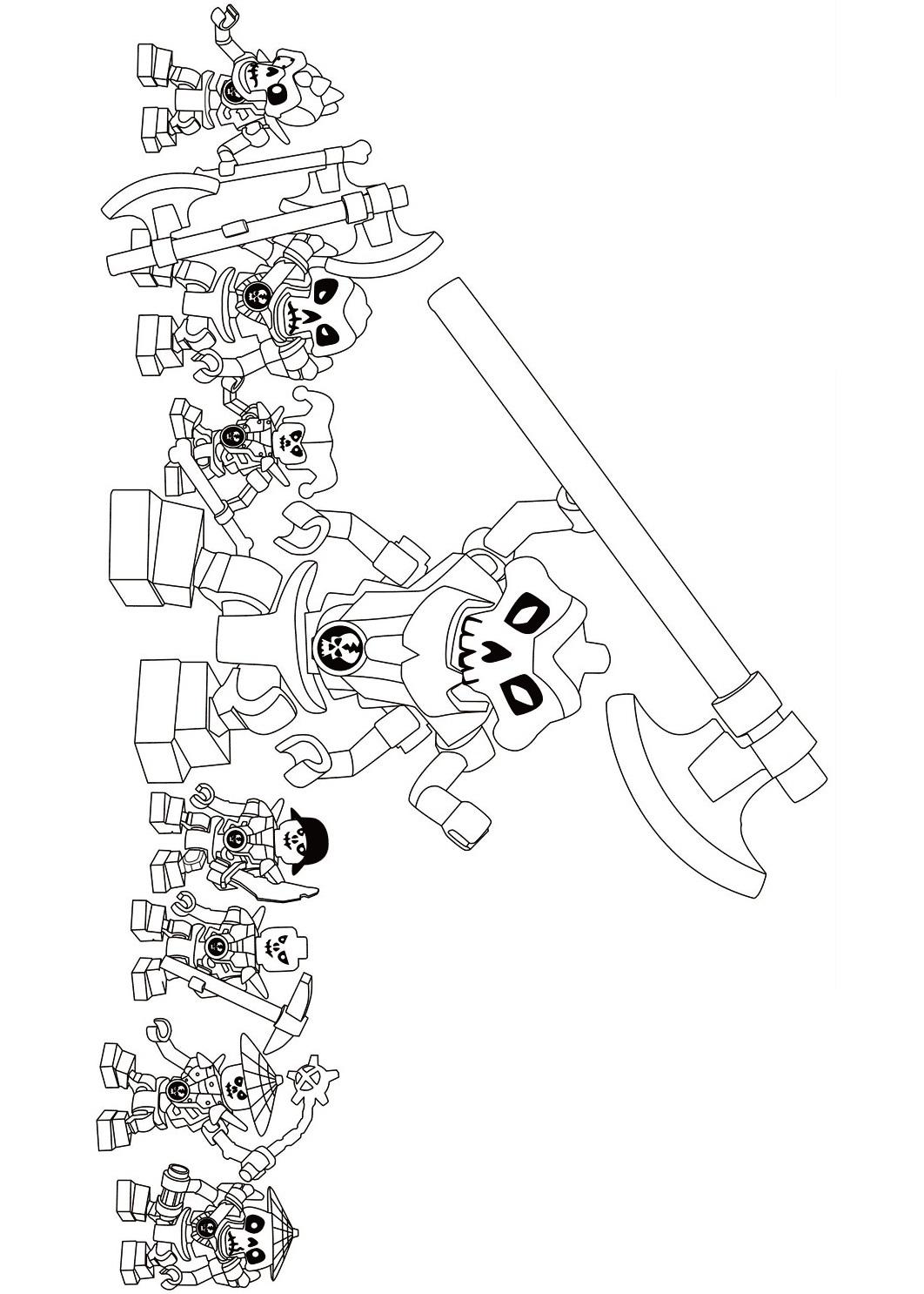 Teams of Lego Ninjago Skulkin Coloring Page
