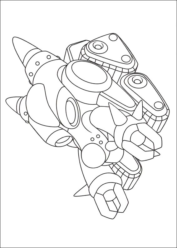 Termination robot from Astro Boy Coloring Page