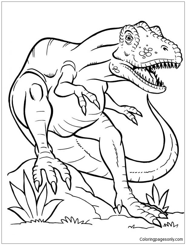 - Terrifying Dinosaurus T Rex Coloring Page - Free Coloring Pages Online