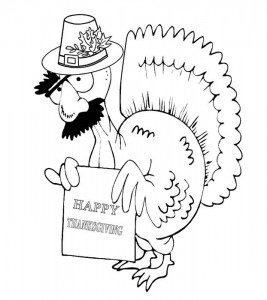 Thanksgiving Funny Coloring Page