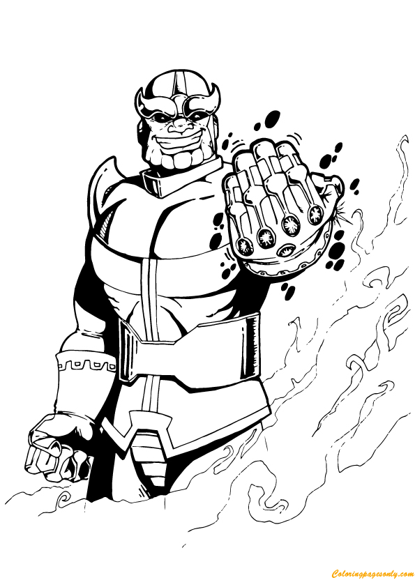 Thanos from Avengers Coloring Page - Free Coloring Pages Online