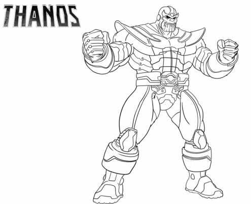 Thanos is a guest character in Fortnite Coloring Page
