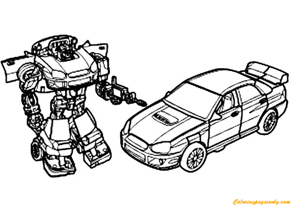 The autobots from transformers coloring page free for Transformer coloring pages