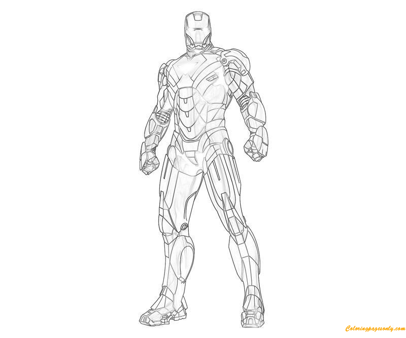 iron man coloring pages from the movie | The Avengers Iron Man Coloring Page - Free Coloring Pages ...
