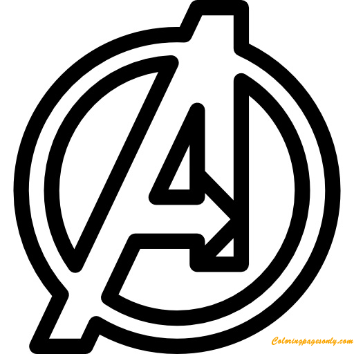 The Avengers Symbol Coloring Page - Free Coloring Pages Online
