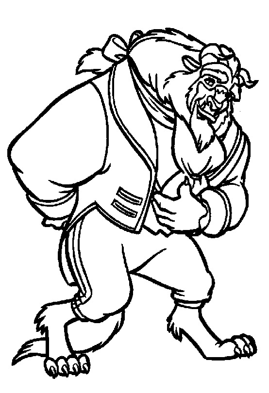 The Beast Coloring Page