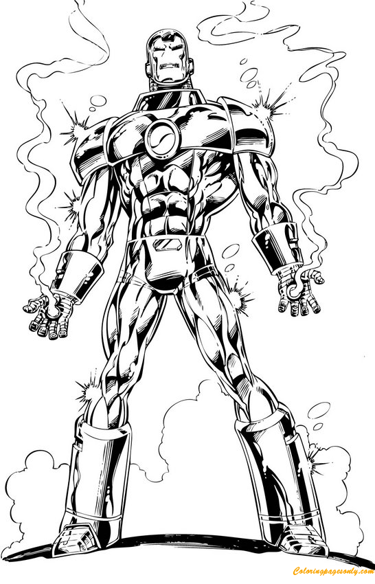 the best armor of iron man coloring page - Coloring Pages Superheroes Ironman