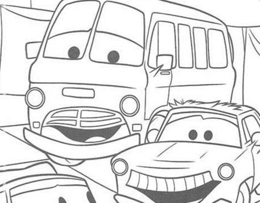 The Car Before Racing Coloring Page