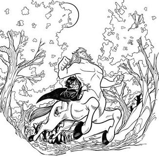 The Centaur And Harry Potter Coloring Page