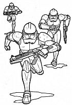 The Clone Troopers Pursuing In Star Wars