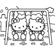 The Cute Kitties On A Swing
