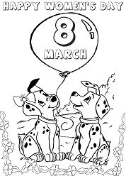 The Dalmatians Celebrating Day Coloring Page